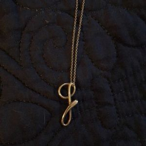 "Tiffany letter ""g"" pendant"